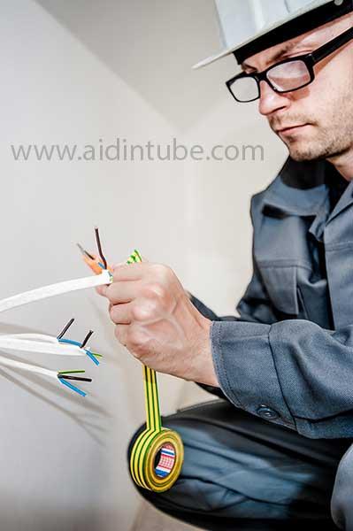 لوله کشی یا لوله گذاری استاندارد برق ساختمان